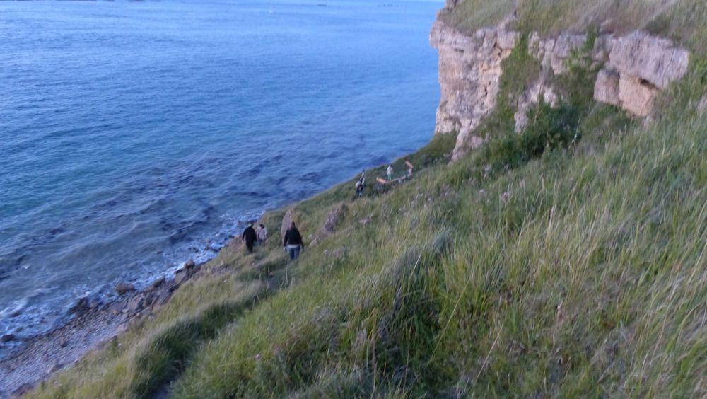 Versprechen an der Steilküste